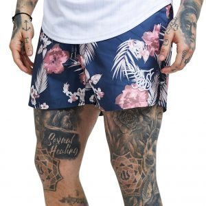 Siksilk Floral All Over Print Swim Shorts Sininen