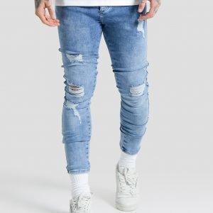 Siksilk Lowrise Distress Jeans Sininen