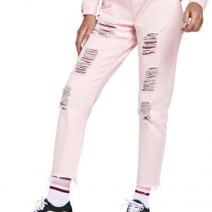Siksilk Rip Mom Jeans Light Pink