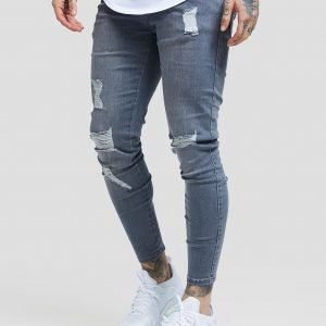 Siksilk Ripped Jeans Harmaa