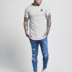 Siksilk Short Sleeve Raglan Tech T-Shirt Harmaa