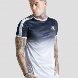 Siksilk Side Tape Fade T-Shirt Musta