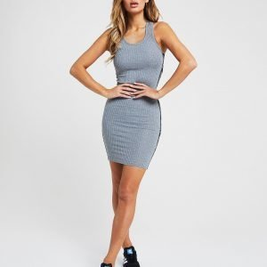 Siksilk Tape Logo Dress Harmaa