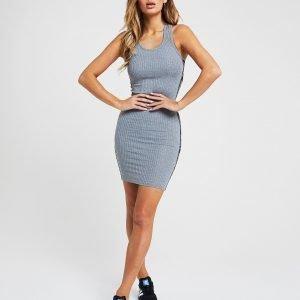 Siksilk Tape Logo Dress Harmaa