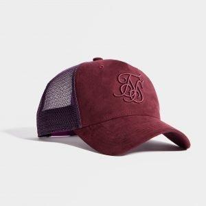 Siksilk Trucker Cap Burgundy