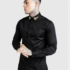 Siksilk X Dani Alves Long Sleeve Shirt Musta
