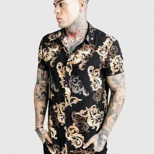 Siksilk X Dani Alves Resort Shirt Musta