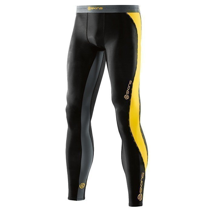 Skins DNAmic Men Long Tights Black/Citron M