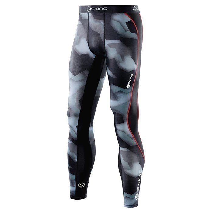 Skins DNAmic Men Long Tights Glitch Camo