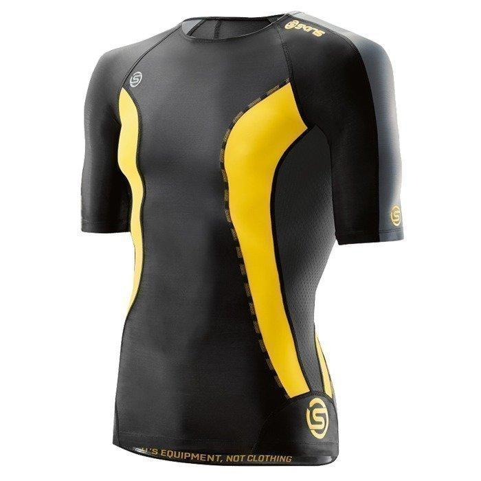 Skins DNAmic Men Top Short Sleeve Black/Citron XL
