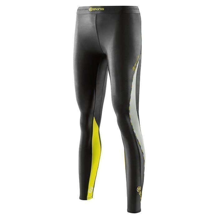 Skins DNAmic Women Long Tights Black/Limoncello M