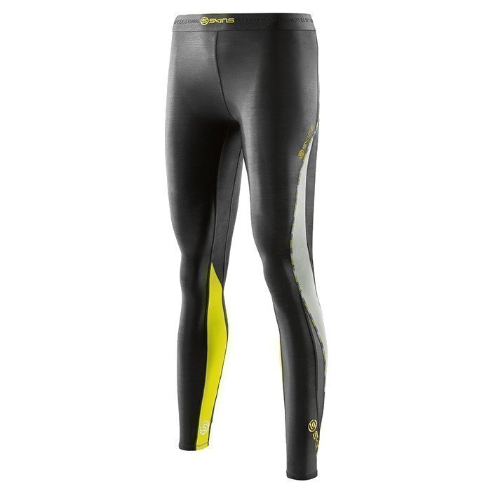 Skins DNAmic Women Long Tights Black/Limoncello