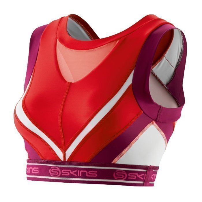 Skins DNAmic Women Vest Crop Rossa