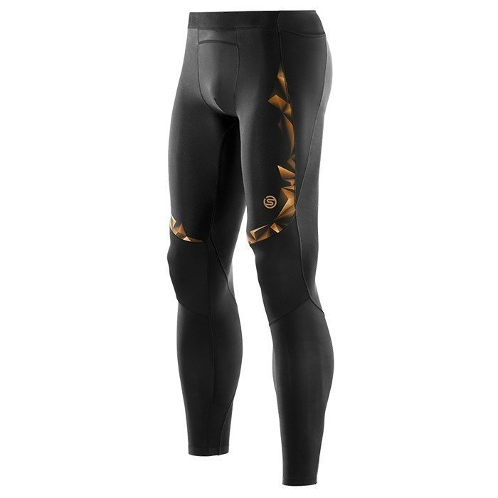 Skins SKINS Men's Gold Long Tights A400 black/gold