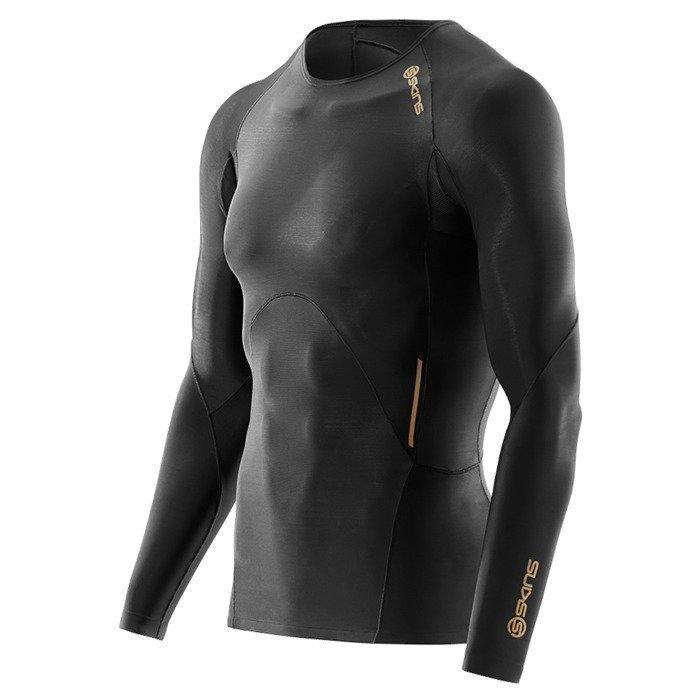 Skins SKINS Men's Top Long Sleeve A400 black/gold XXL