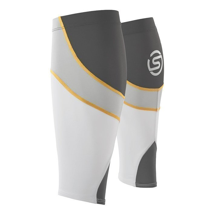 Skins Unisex Calftights MX White/Pewter S