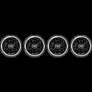 Soc Wheel Set Rullaluistimen Rengas 90 Mm 4-Pakkaus