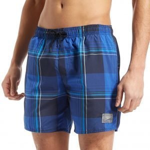 Speedo 16 Inch Check Swim Shorts Deep Blue