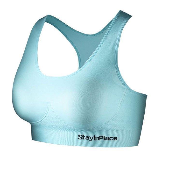 Stay In Place Rib Seamless Bra Cyan Mint XL