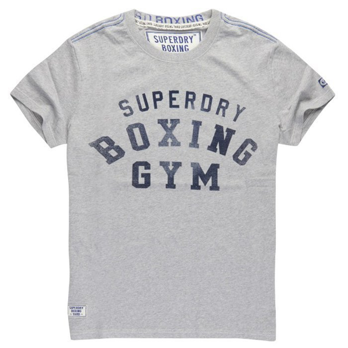 Superdry Boxing Yard Tee Grey Marl