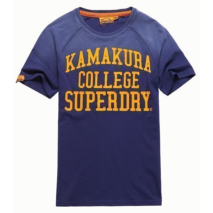 Superdry Campus Raglan Tee Navy