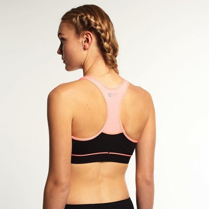 Superdry Gym Panelled Sports Bra Black/Fluro