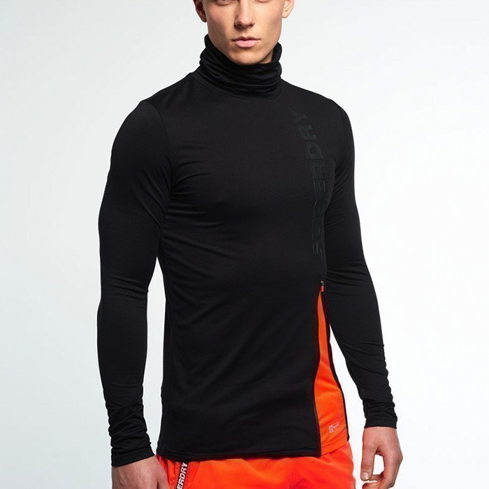 Superdry Gym Sport Runner Funnel Neck Black
