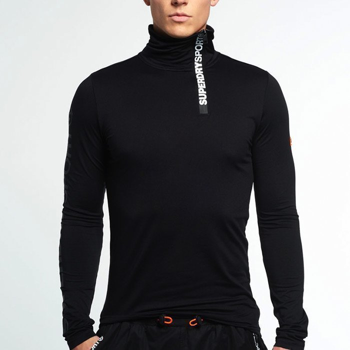 Superdry Gym Sport Runner High Henley Black