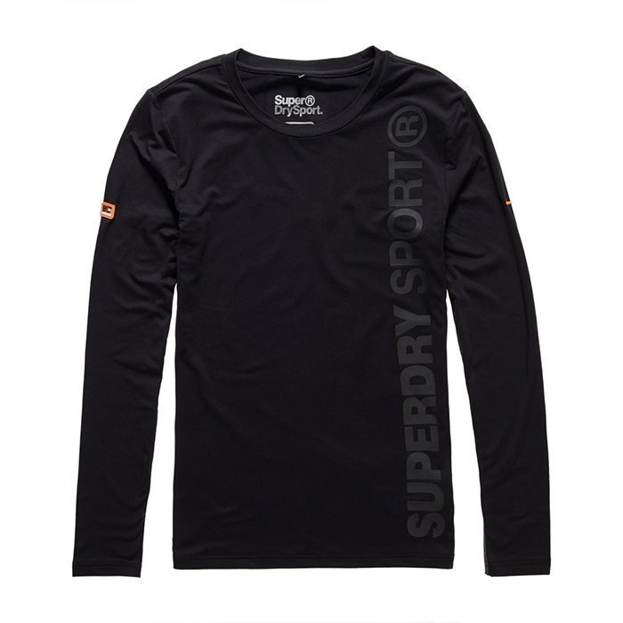 Superdry Gym Sport Runner Long Sleeve Tee Black XL