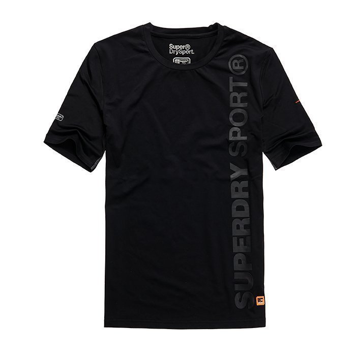 Superdry Gym Sport Runner Tee Black