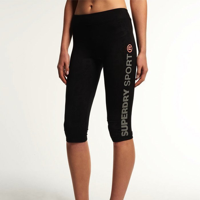Superdry Gym Sprint Capri Black Print
