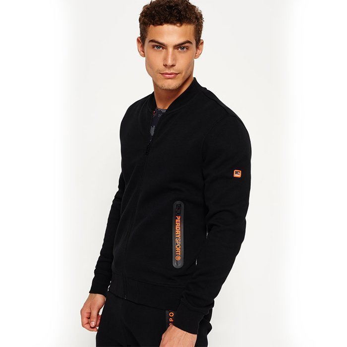 Superdry Gym Tech Bomber Black