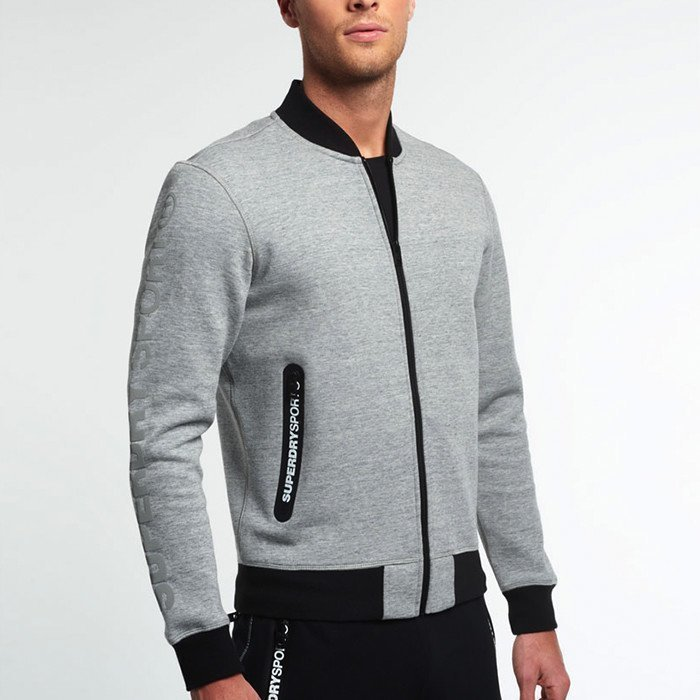 Superdry Gym Tech Bomber Grey