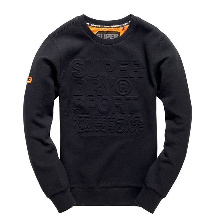 Superdry Gym Tech Embosesed Crew Black M