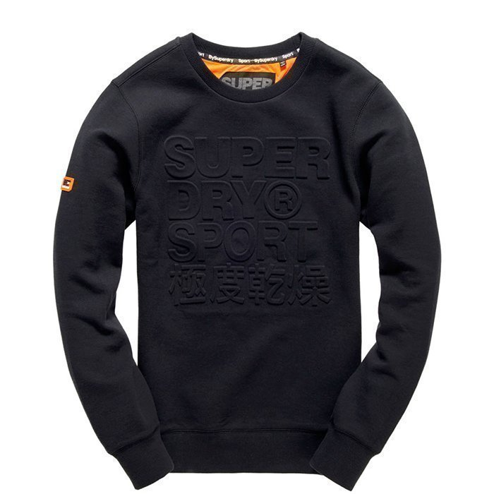 Superdry Gym Tech Embosesed Crew Black XL