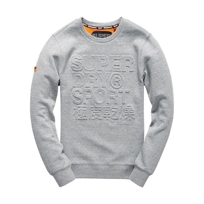 Superdry Gym Tech Embosesed Crew Grey L