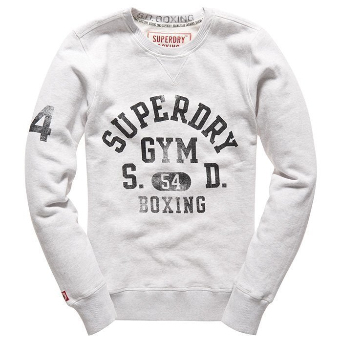 Superdry Men's Boxing Yard Crew Ringside Silver Marl S