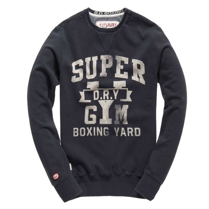 Superdry Men's Boxing Yard Crew Vintage Black XL