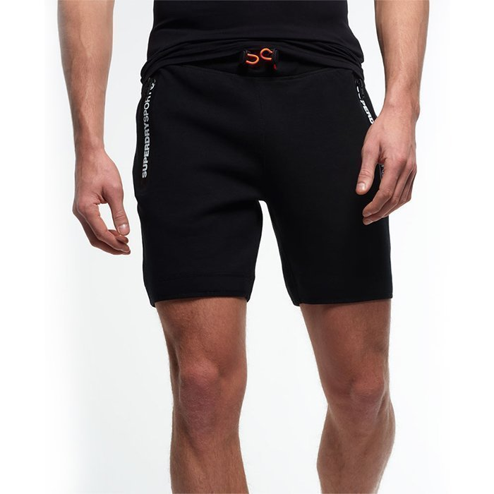 Superdry Men's Gym Training Sport Shorts Black L