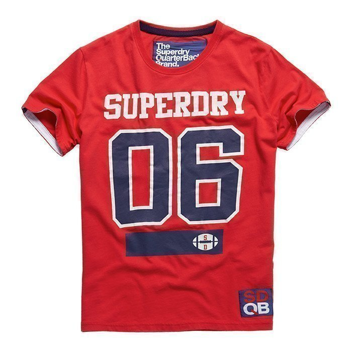 Superdry Men's Linebacker Tee Indiana Red M