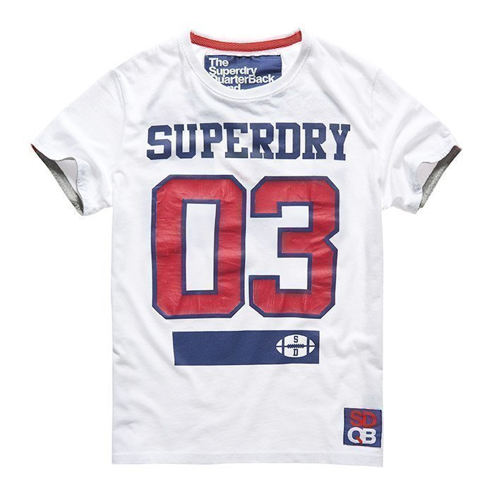 Superdry Men's Linebacker Tee White L