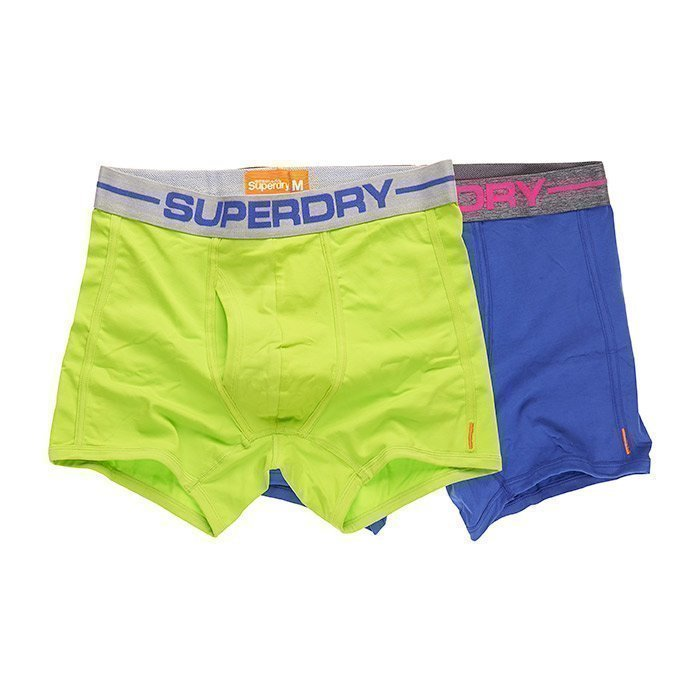 Superdry Men's Sport Boxer Double Pack Cuba Green/Aloha XL