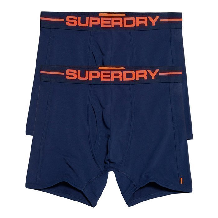 Superdry Men's Sport Boxer Double Pack Navy S