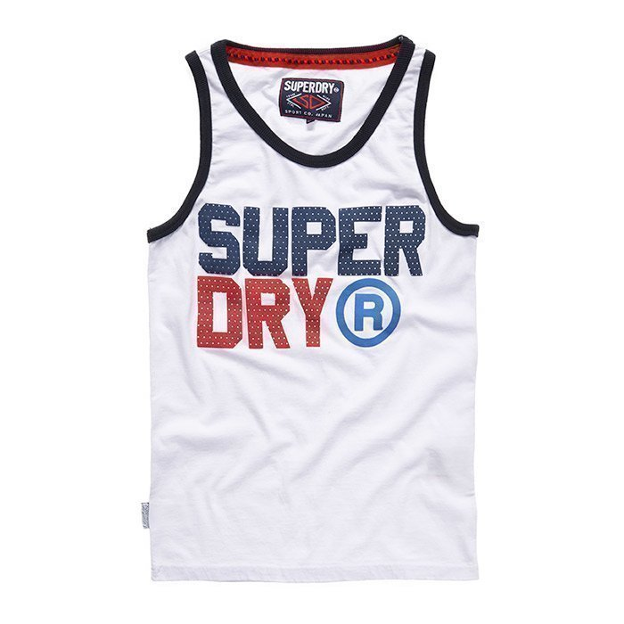 Superdry Men's Star State Vest White M