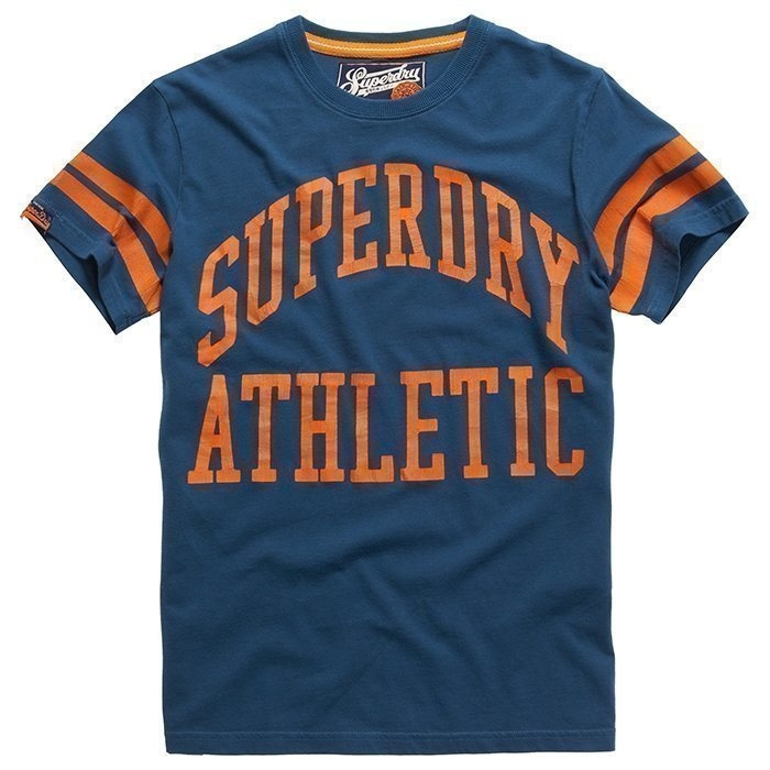 Superdry Men's Tiger Athletics Tee Bluebottle M