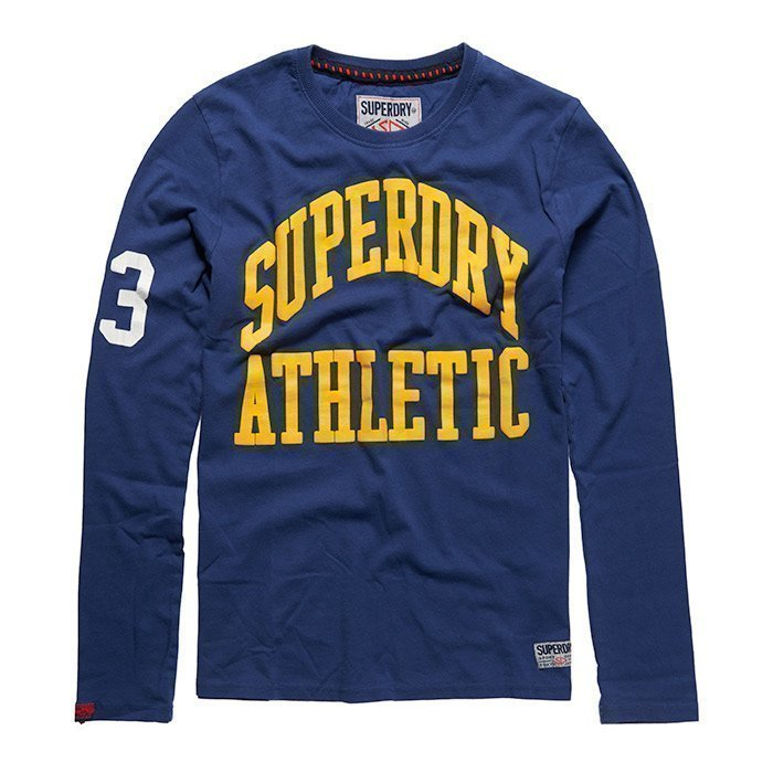 Superdry Men's Tigers Athletic Long Sleeve Supermarine Navy S