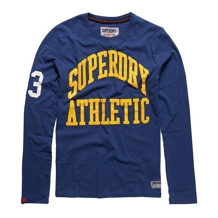 Superdry Men's Tigers Athletic Long Sleeve Supermarine Navy S
