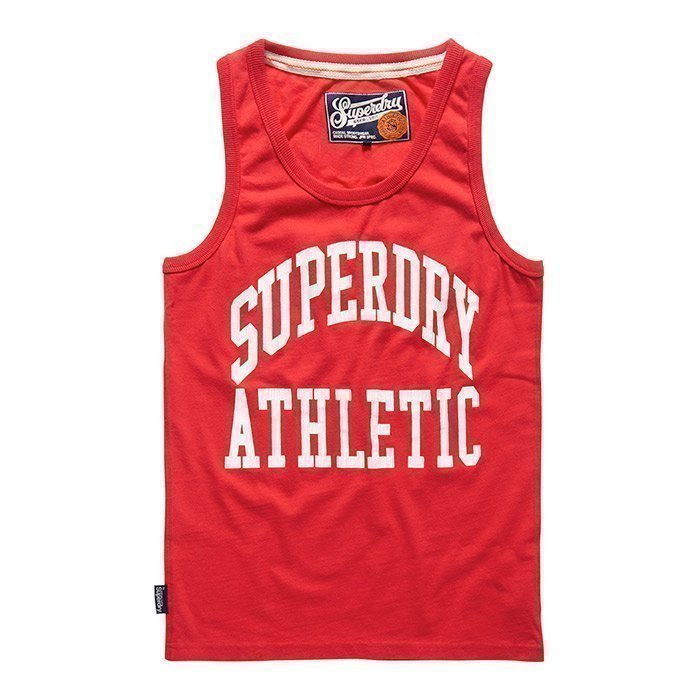 Superdry Men's Tigers Athletic Vest Rich Scarlet S