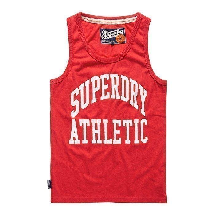Superdry Men's Tigers Athletic Vest Rich Scarlet