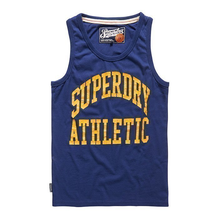 Superdry Men's Tigers Athletic Vest Supermarine Navy XXL